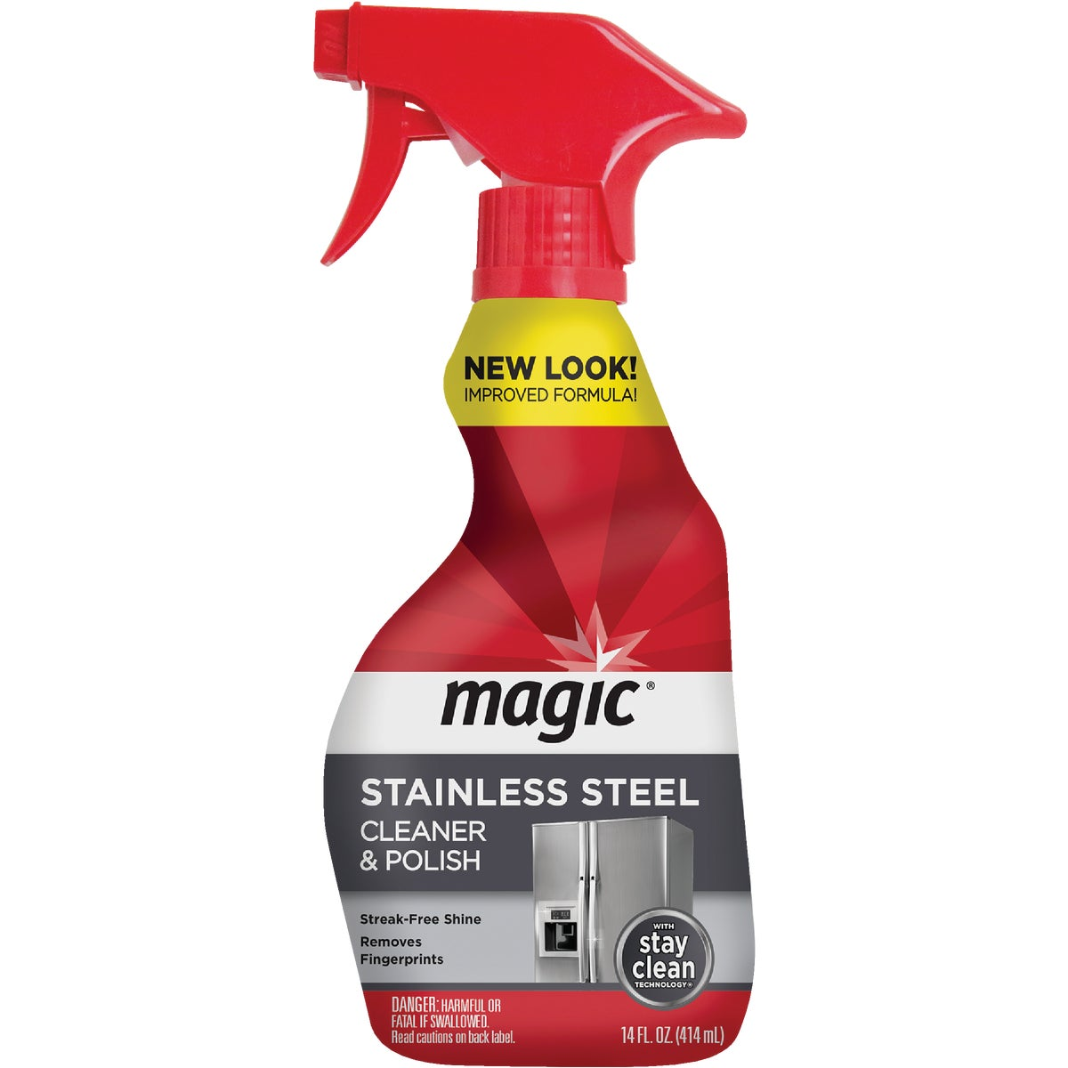 14OZ STNLS STEEL CLEANER - 1825 by Magic Ntrl Magic Sci