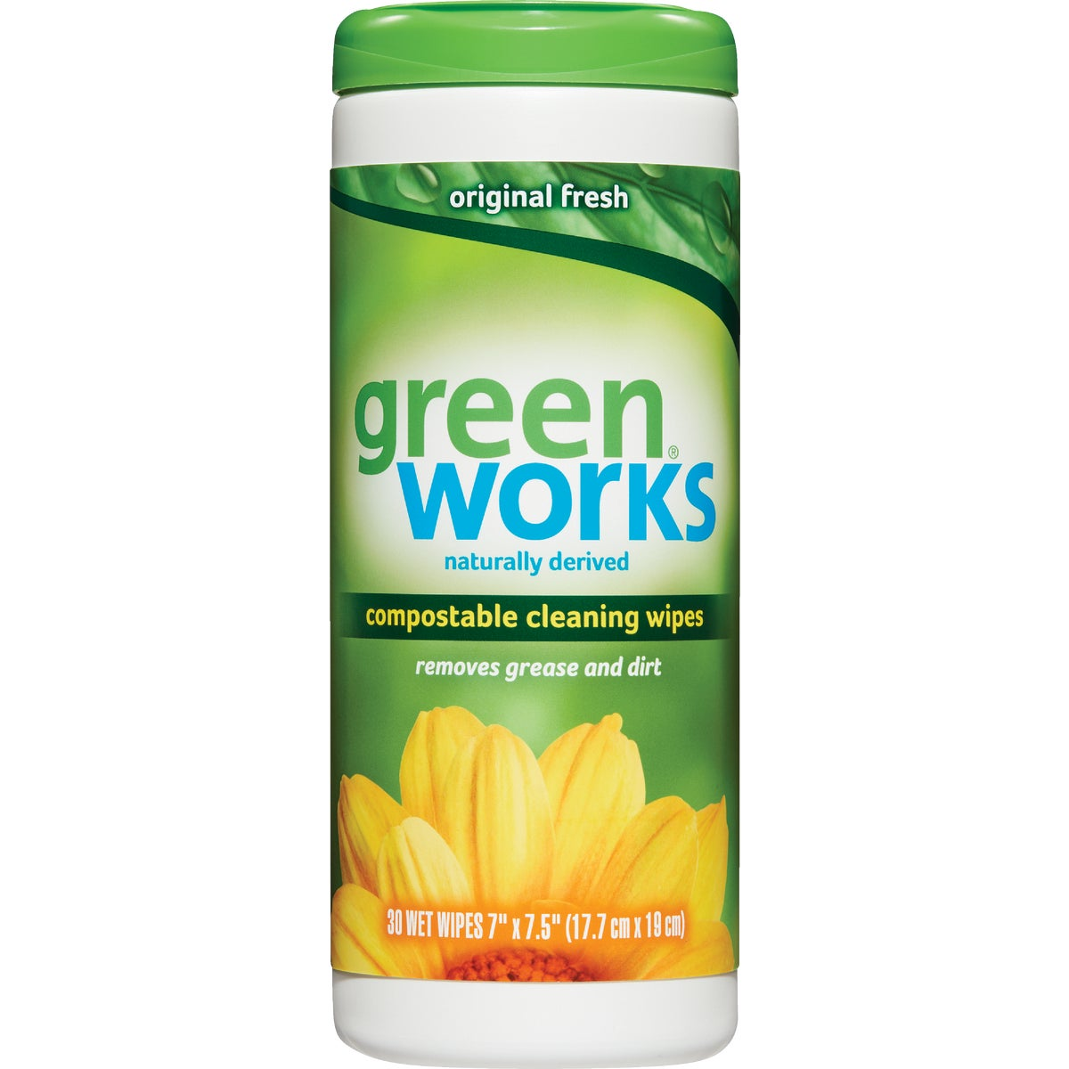 30CT GREEN WORKS WIPES - 30311 by Clorox/home Cleaning