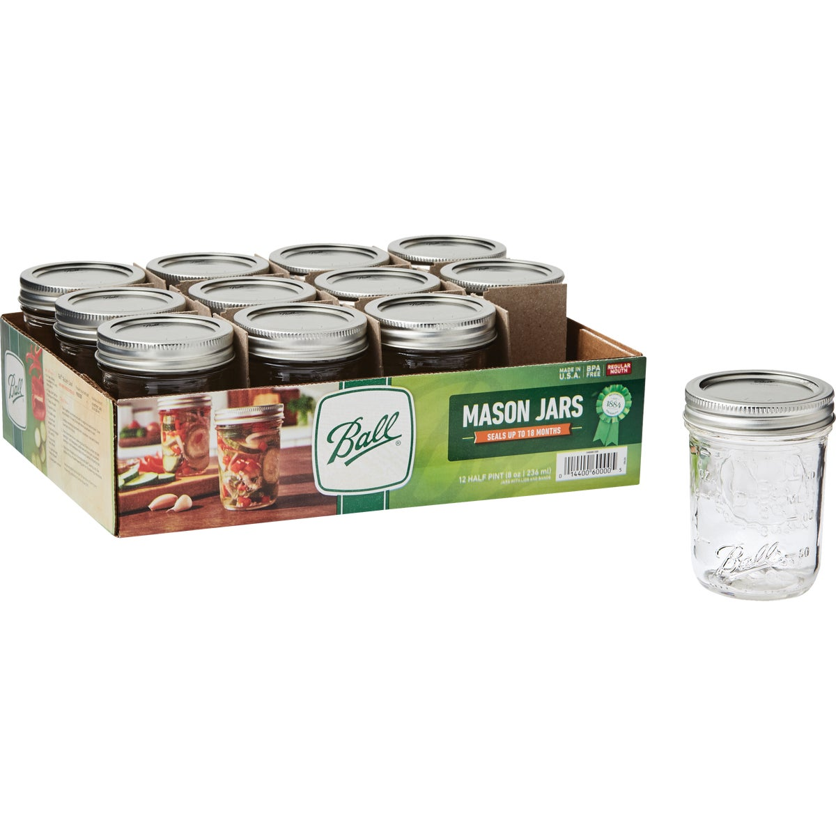 12 1/2PT REG MASON JARS - 60000 by Jarden Home Brands