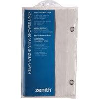 Zenith Prod. WHT SHOWER CURTAIN/LNR H28W