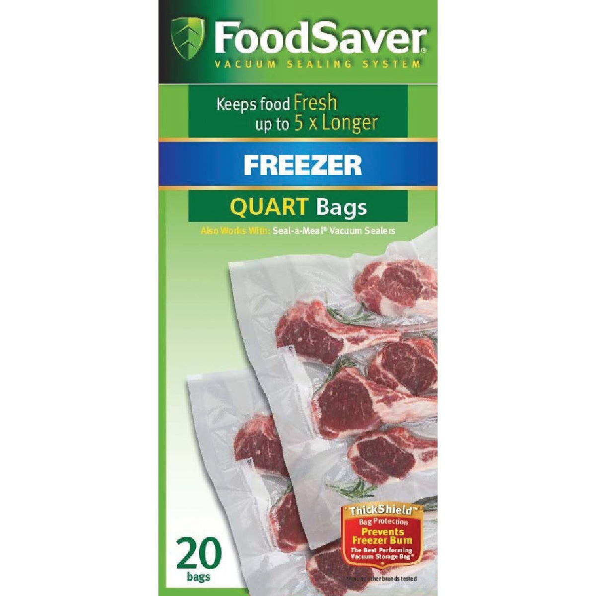 20CT QT FOOD SAVER BAGS
