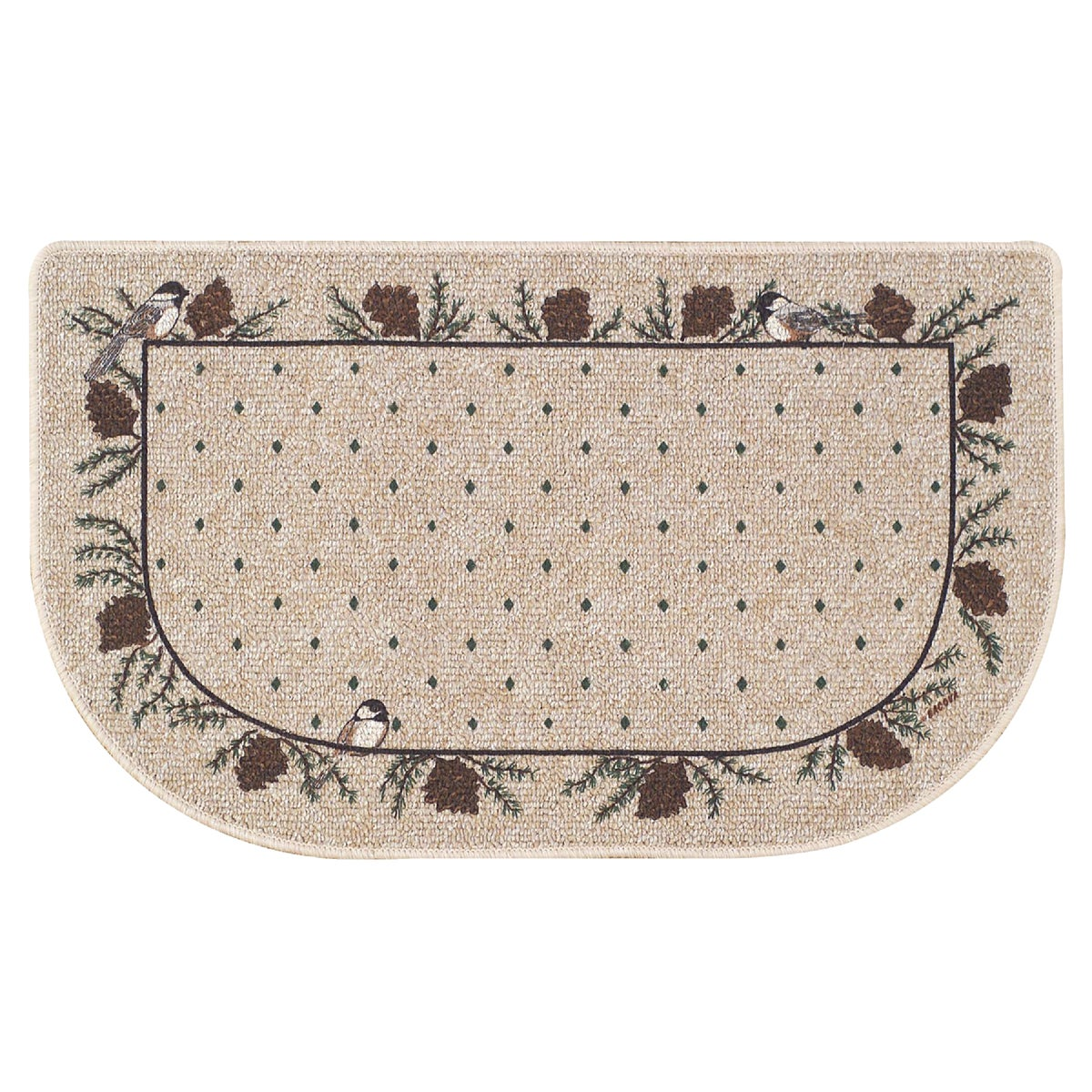 CHICKADEE HEARTH RUG - 01837 by Bacova Guild Ltd
