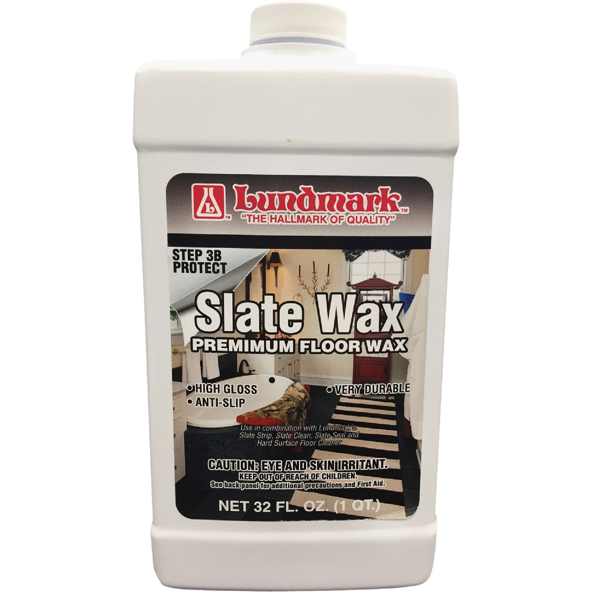 32OZ SLATE WAX - 3219F32-6 by Lundmark Wax Co
