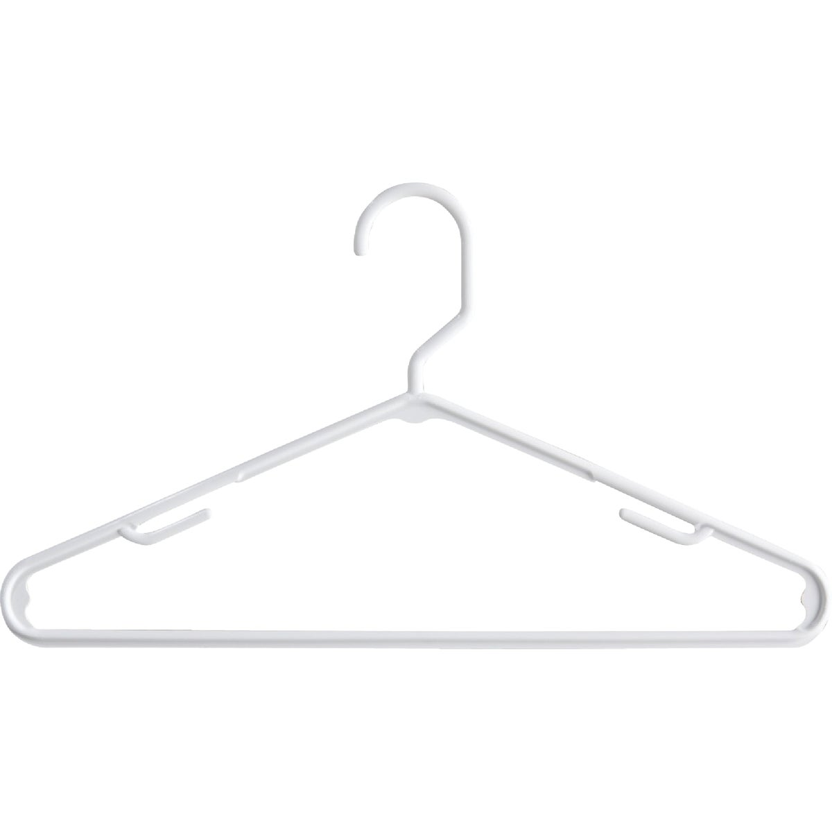 10 WHITE PLASTIC HANGERS - 680810WH.14 by Homz/ Tamor