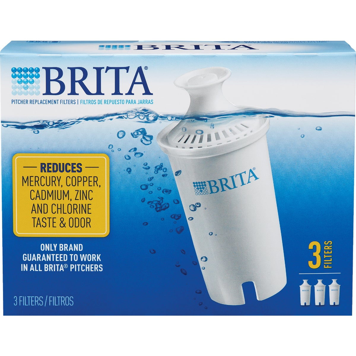 3PK REPLACEMENT FILTER - 35503 by Brita Div Of Clorox