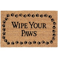 USCOA Intl WIPE YOUR PAWS DOORMAT 31801