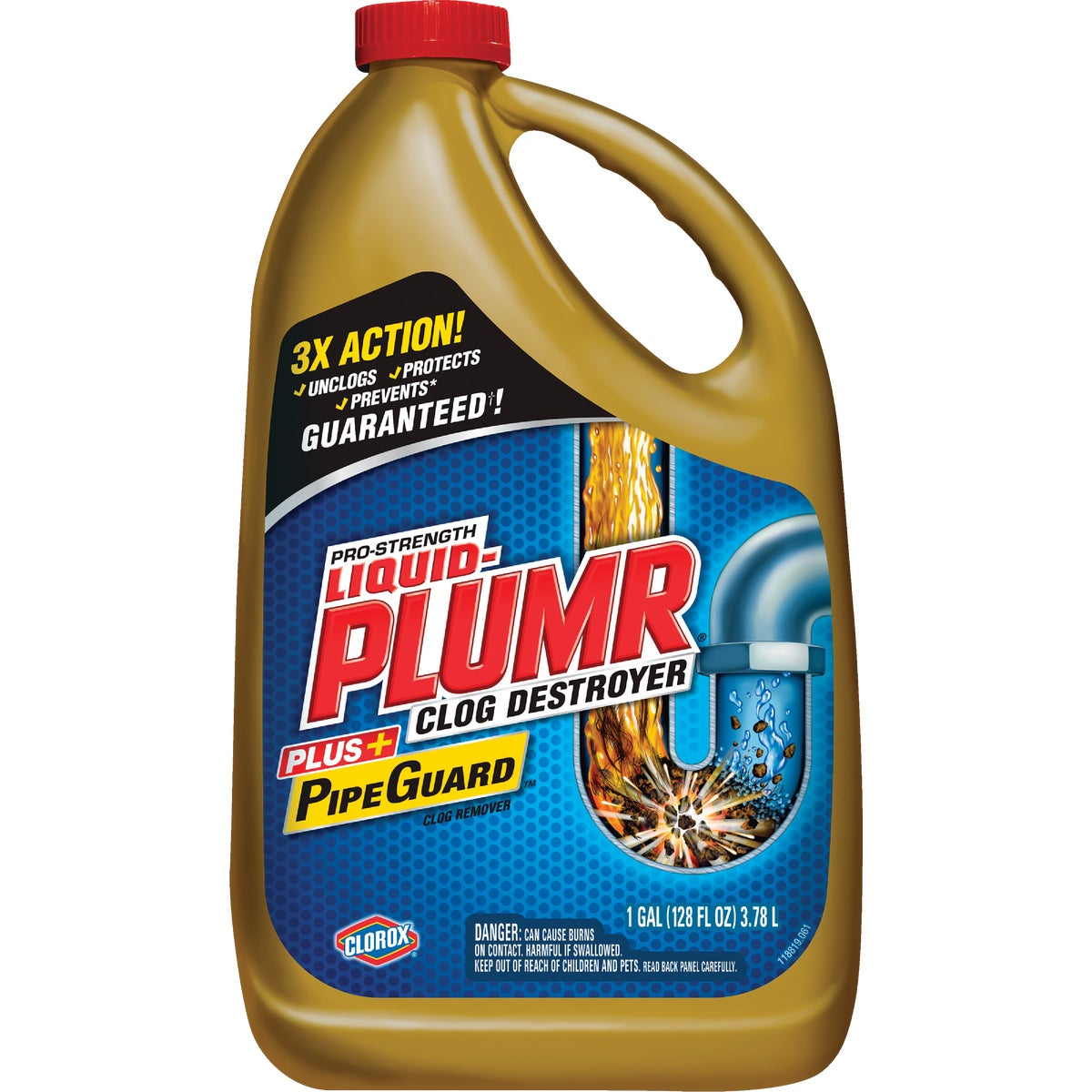 128OZ IND LIQUID-PLUMR - 00252 by Clorox/home Cleaning