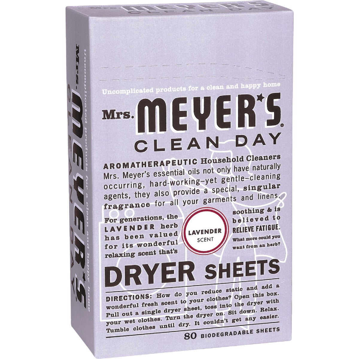 LAVENDER DRYER SHEETS - 14148 by Mrs Meyers Clean Day
