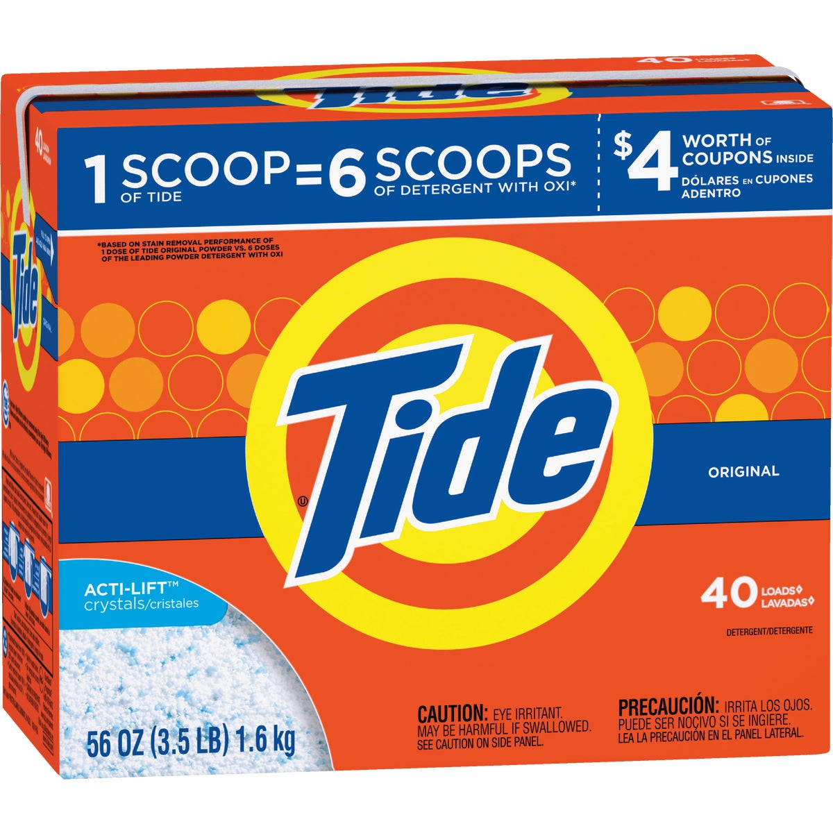 56OZ TIDE PWDR DETERGENT - 84973 by Procter & Gamble
