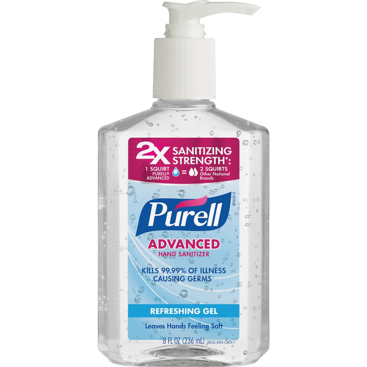 8OZ HAND SANITIZER - 9652-12-CMR by Bunzl USA