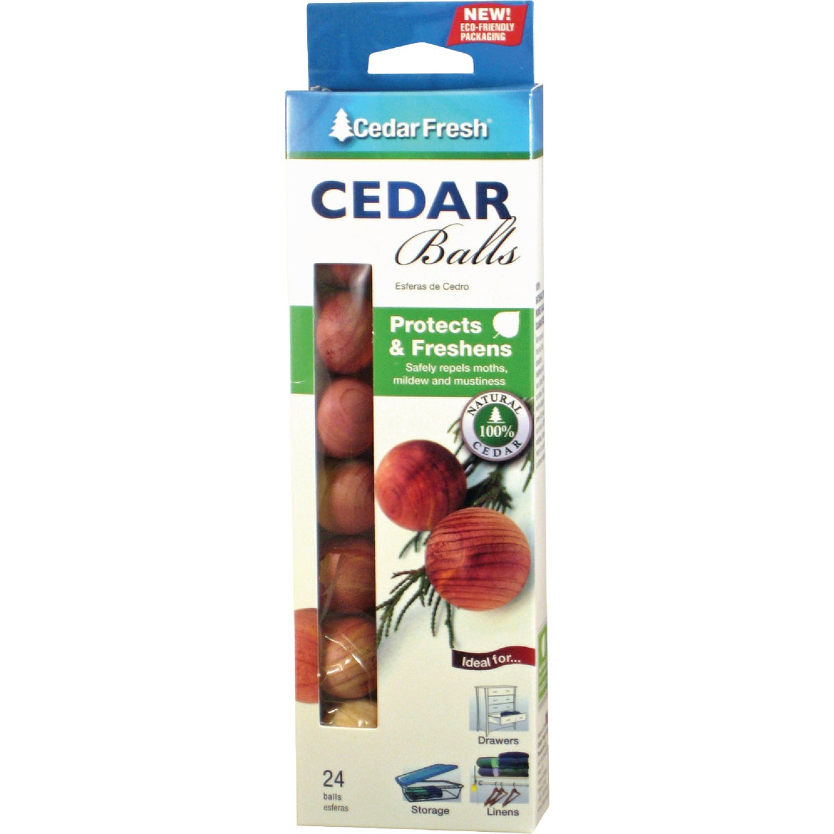 24PK CEDAR BALLS - 17824 by Household Essentials