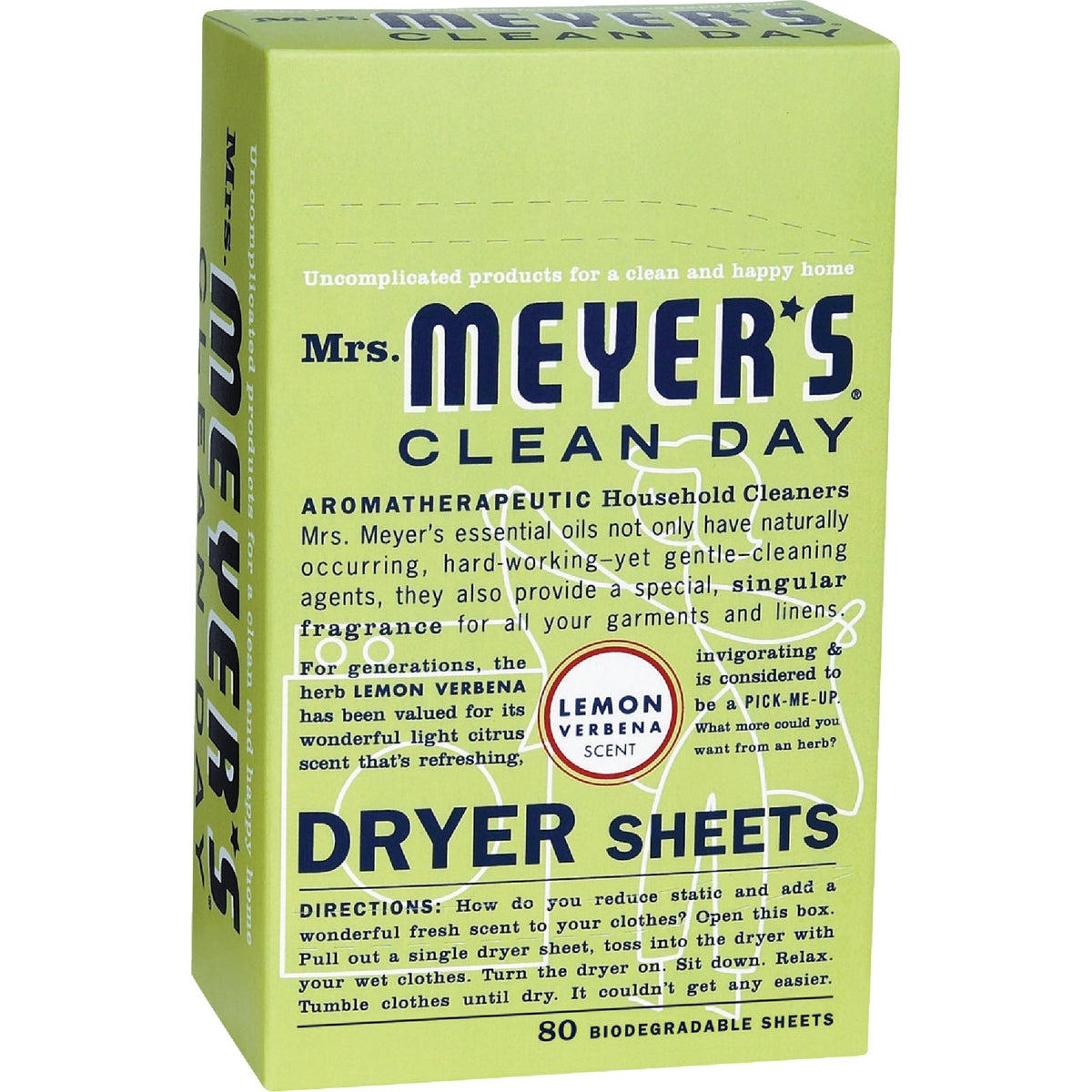 LEMON DRYER SHEETS - 14248 by Mrs Meyers Clean Day