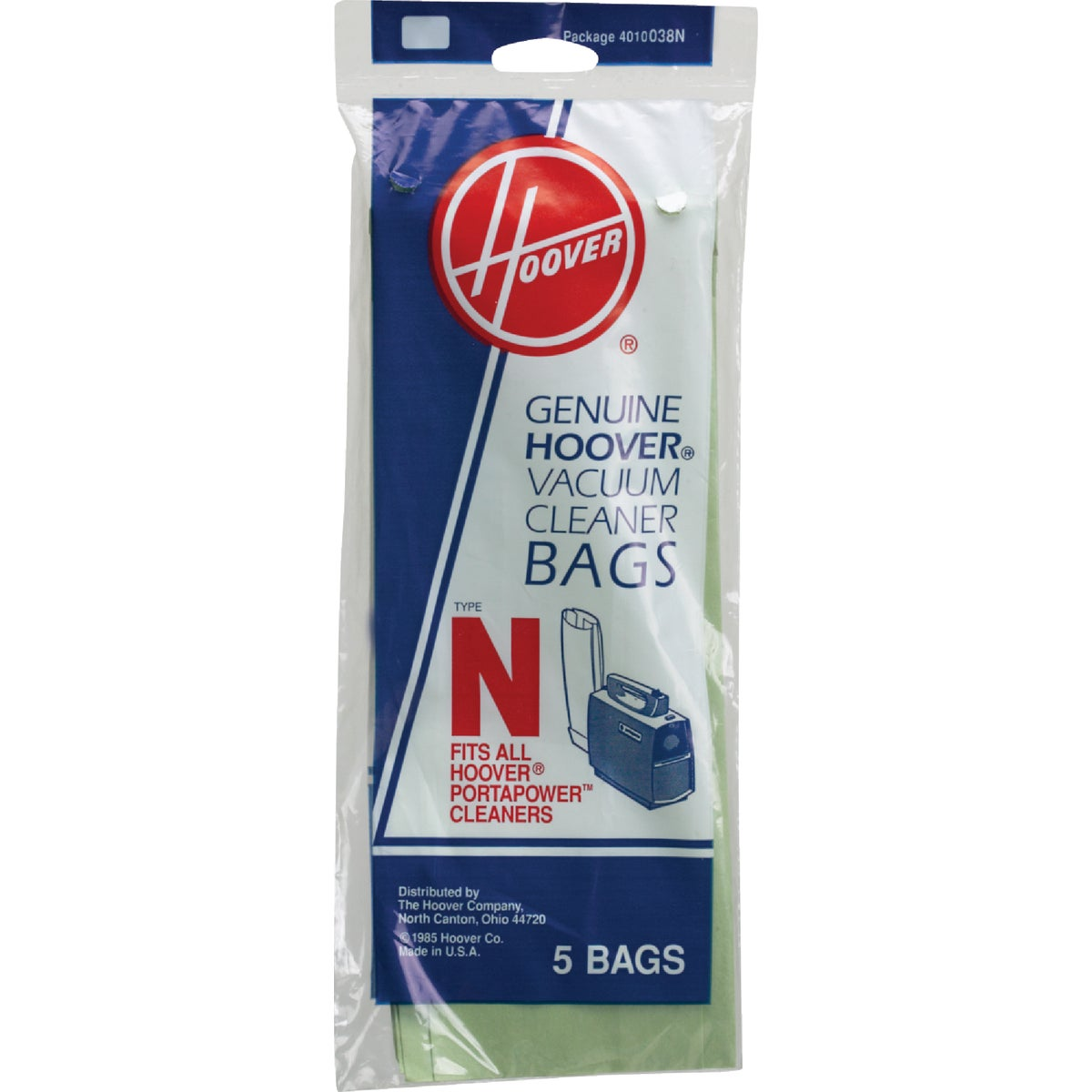 TYPE N VAC CLEANER BAG - 4010038N by Hoover Co