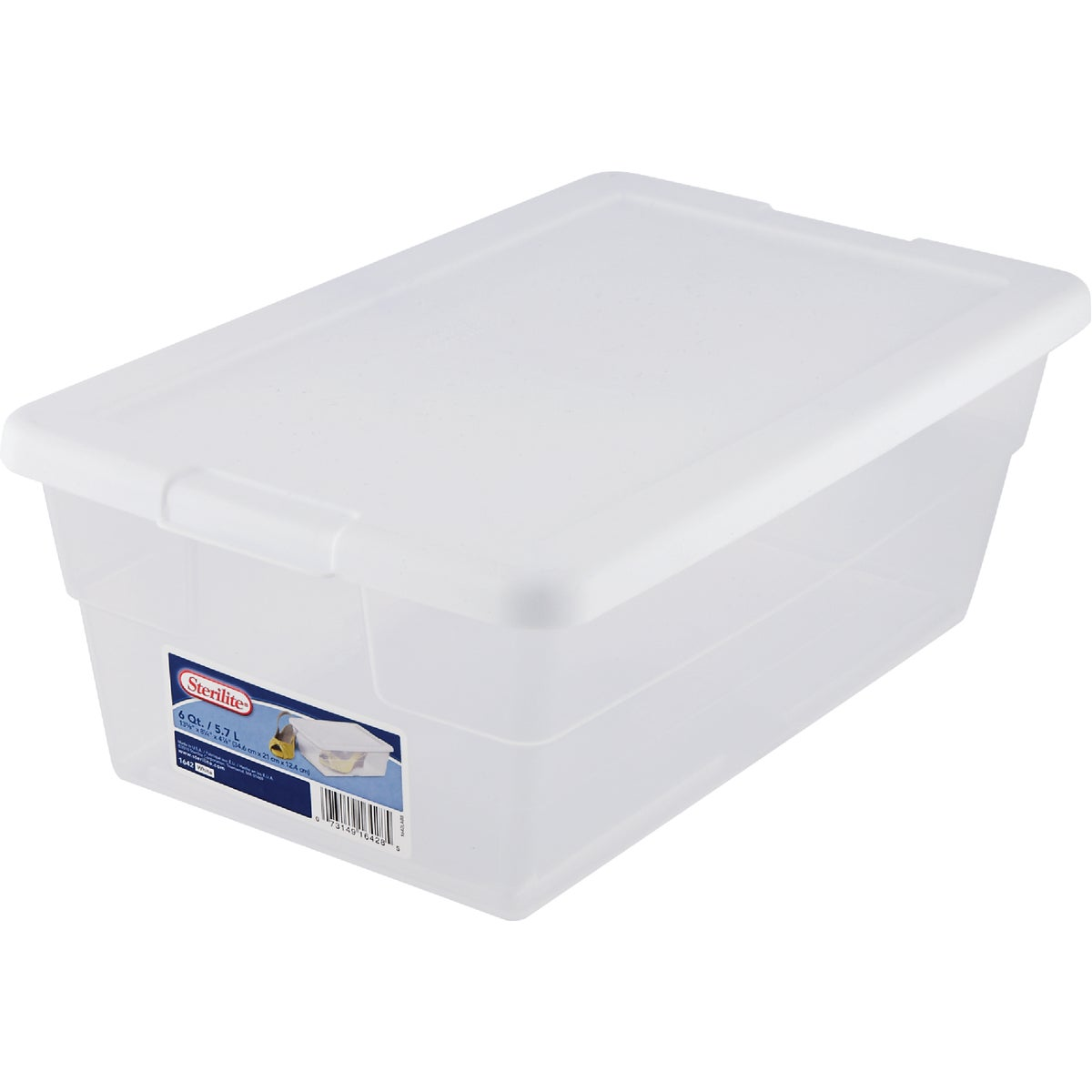 6 QUART STORAGE BOX - 16428012 by Sterilite Corp