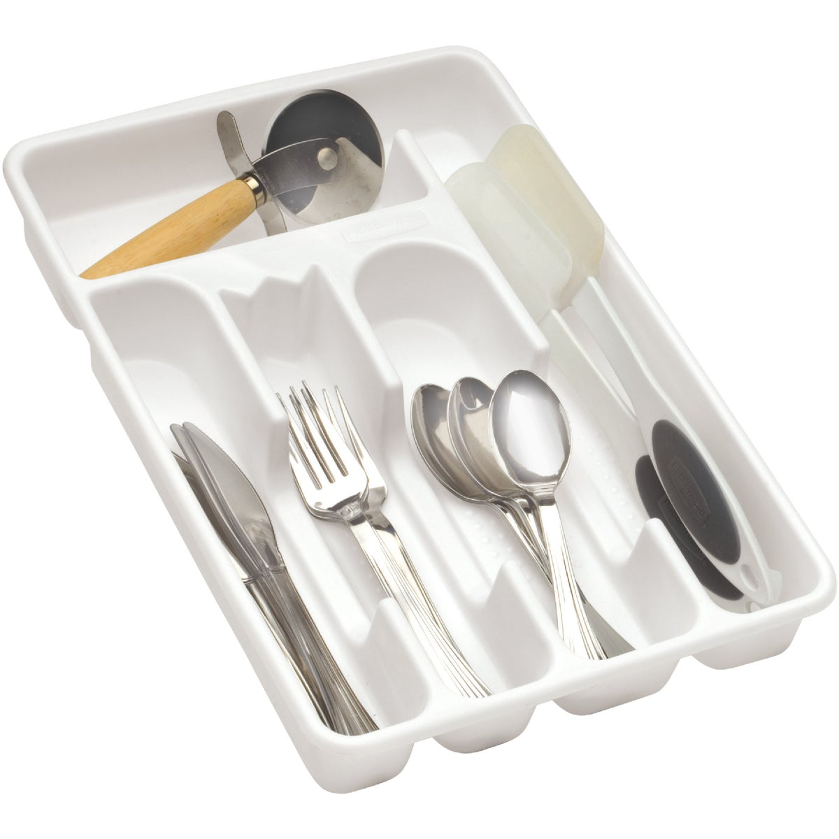 WHITE CUTLERY TRAY - 2919-RD-WHT by Rubbermaid Home