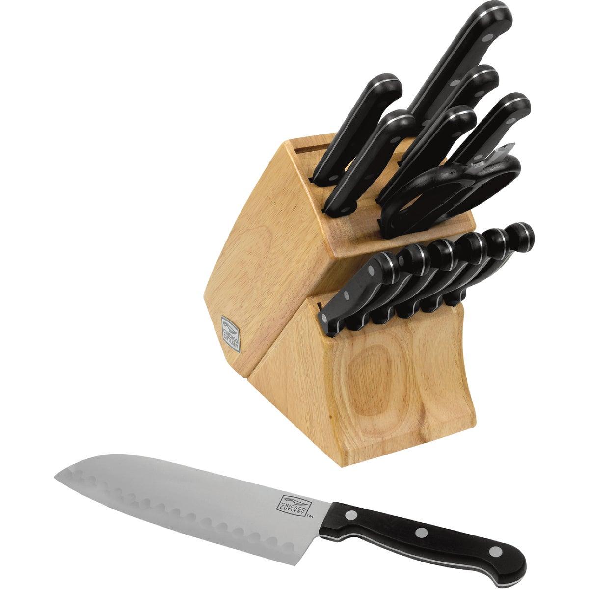15PC ESSNTIALS KNIFE SET - 1080719 by World Kitchen  Ekco