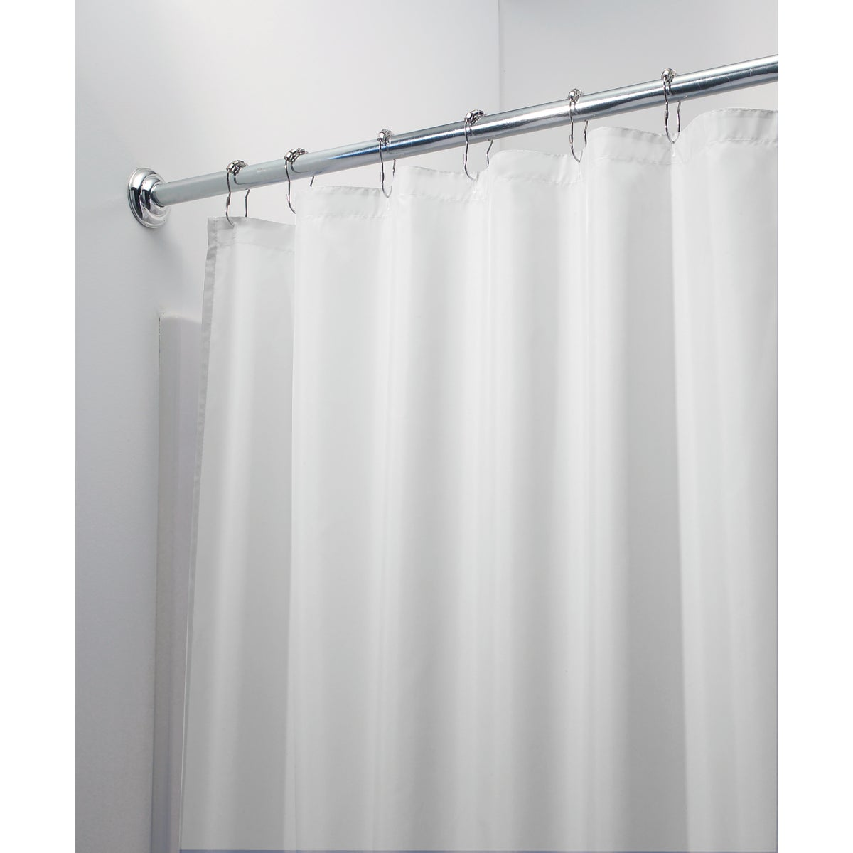 WHT POLY SHOWER CURTAIN