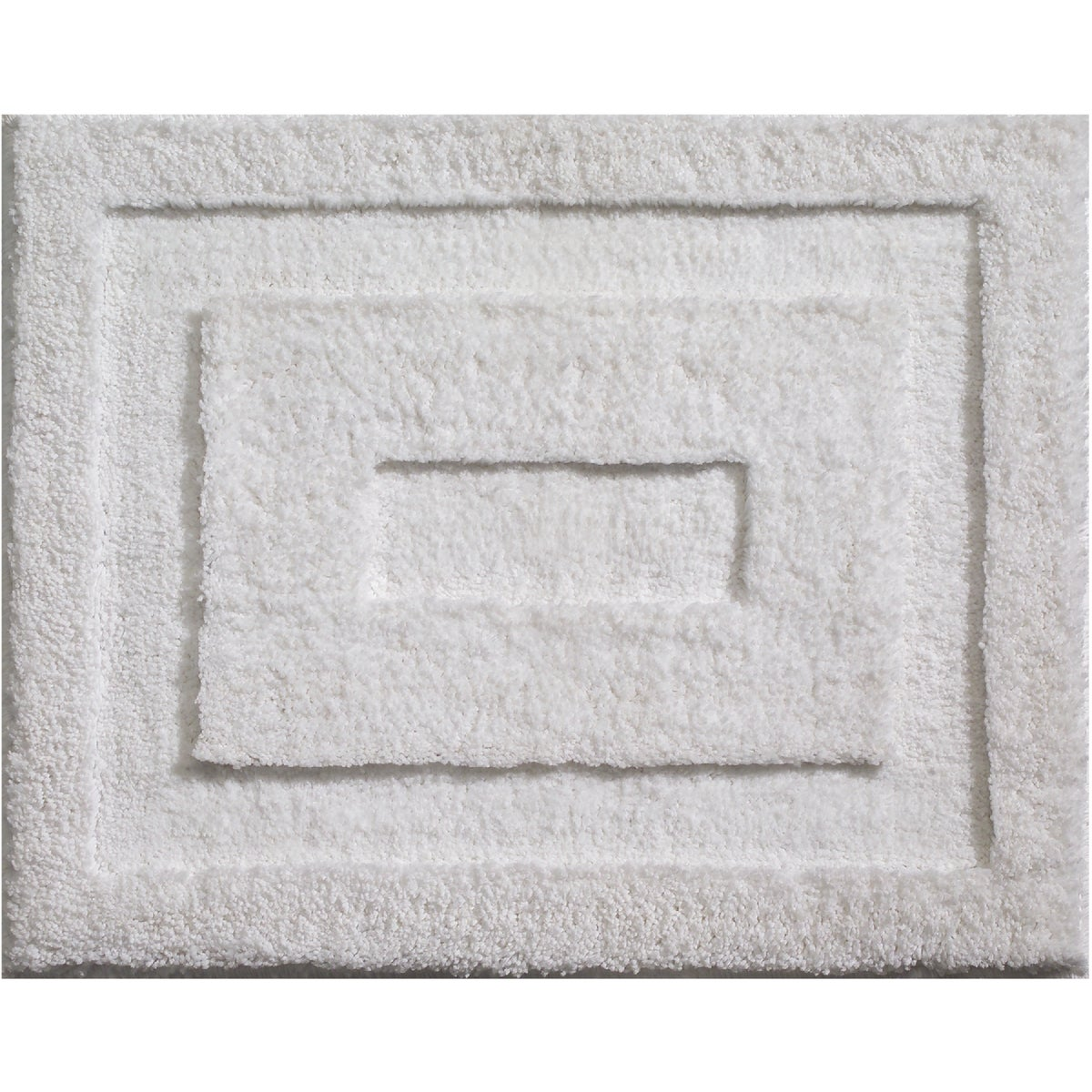 17X21 WHITE BATH RUG - 17030 by Interdesign Inc