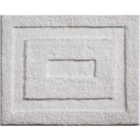Interdesign 21X17 WHITE BATH RUG 17030