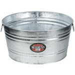Hot-Dipped Round Utility Tub