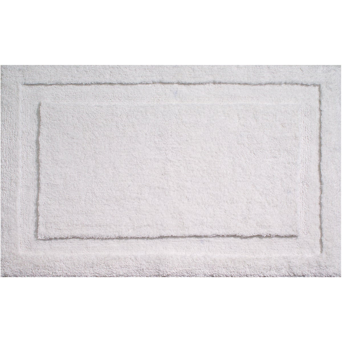 34X21 WHITE BATH RUG - 17050 by Interdesign Inc