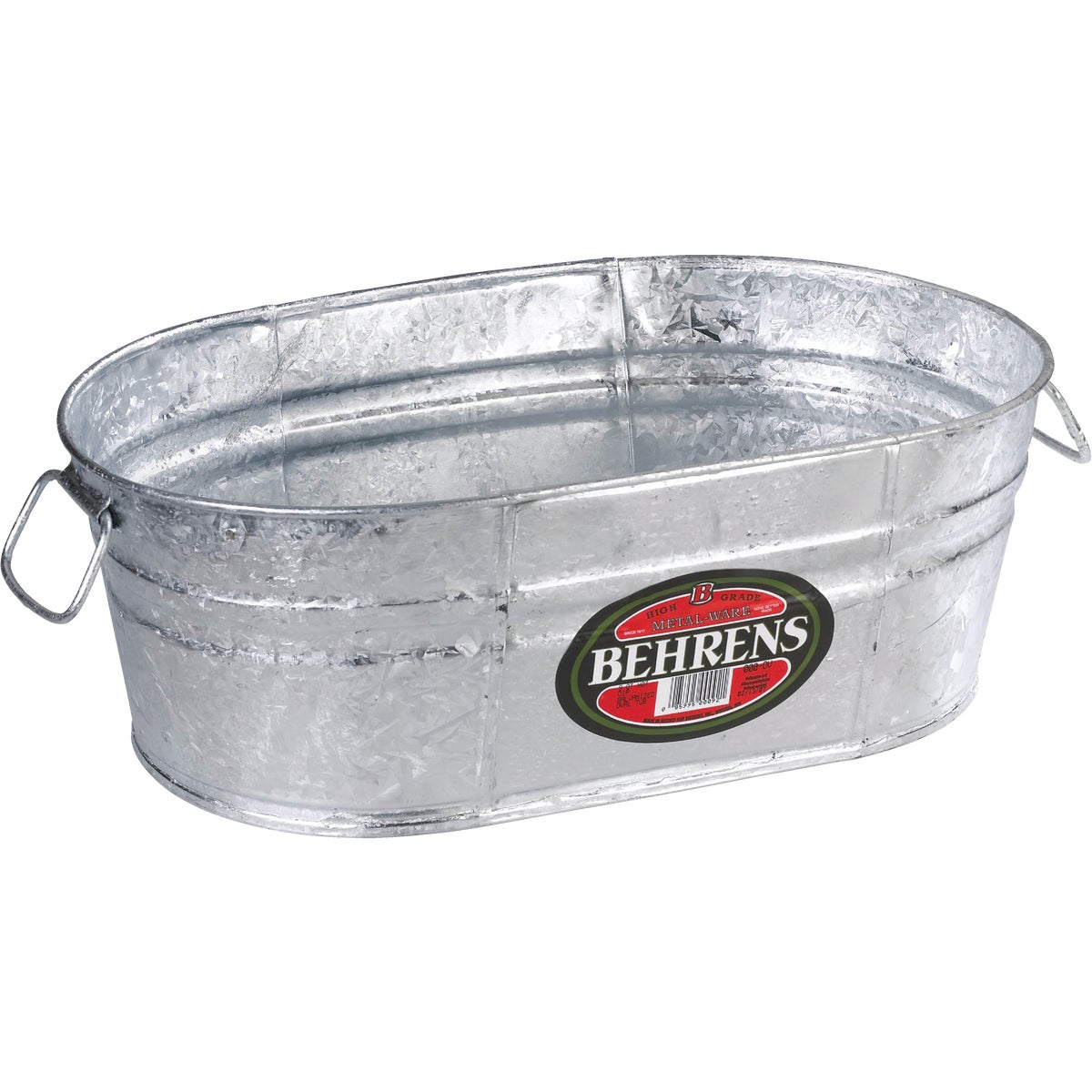 9QT HOT DIPPED OVAL TUB - 000-OV by Behrens Mfg