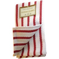 Harold Import 2PC RED STRP DISHCLOTHS 02623RD