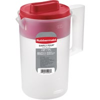 Rubbermaid 2.25QT RED LID PITCHER 1777154