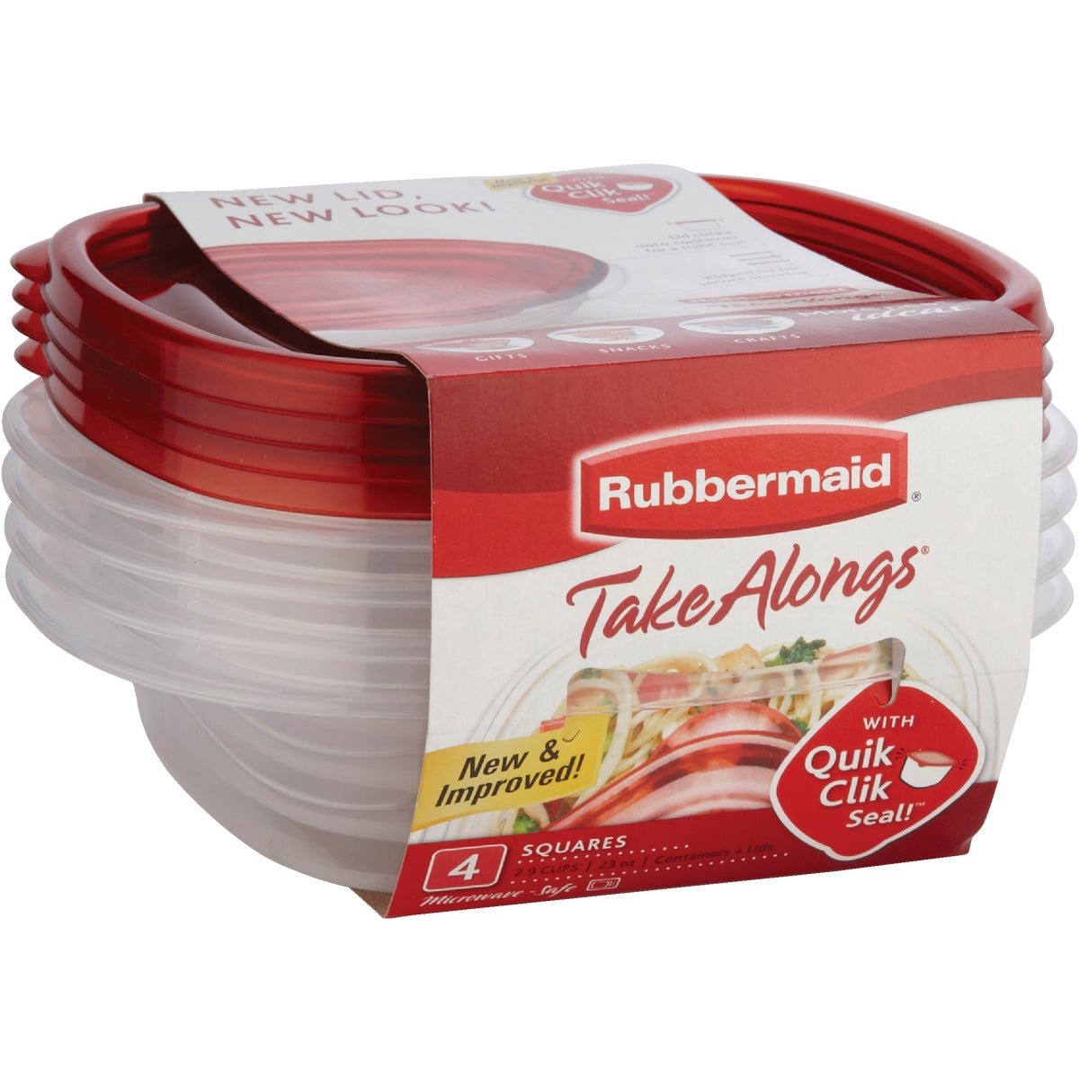 4PC SANDWICH CONTAINERS - 1832533 by Rubbermaid Home
