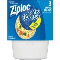 Johnson S C Inc Ziploc Twist ftn Loc Food Storage Container With Leak-Resistant Seal SM ZIPLOC DI