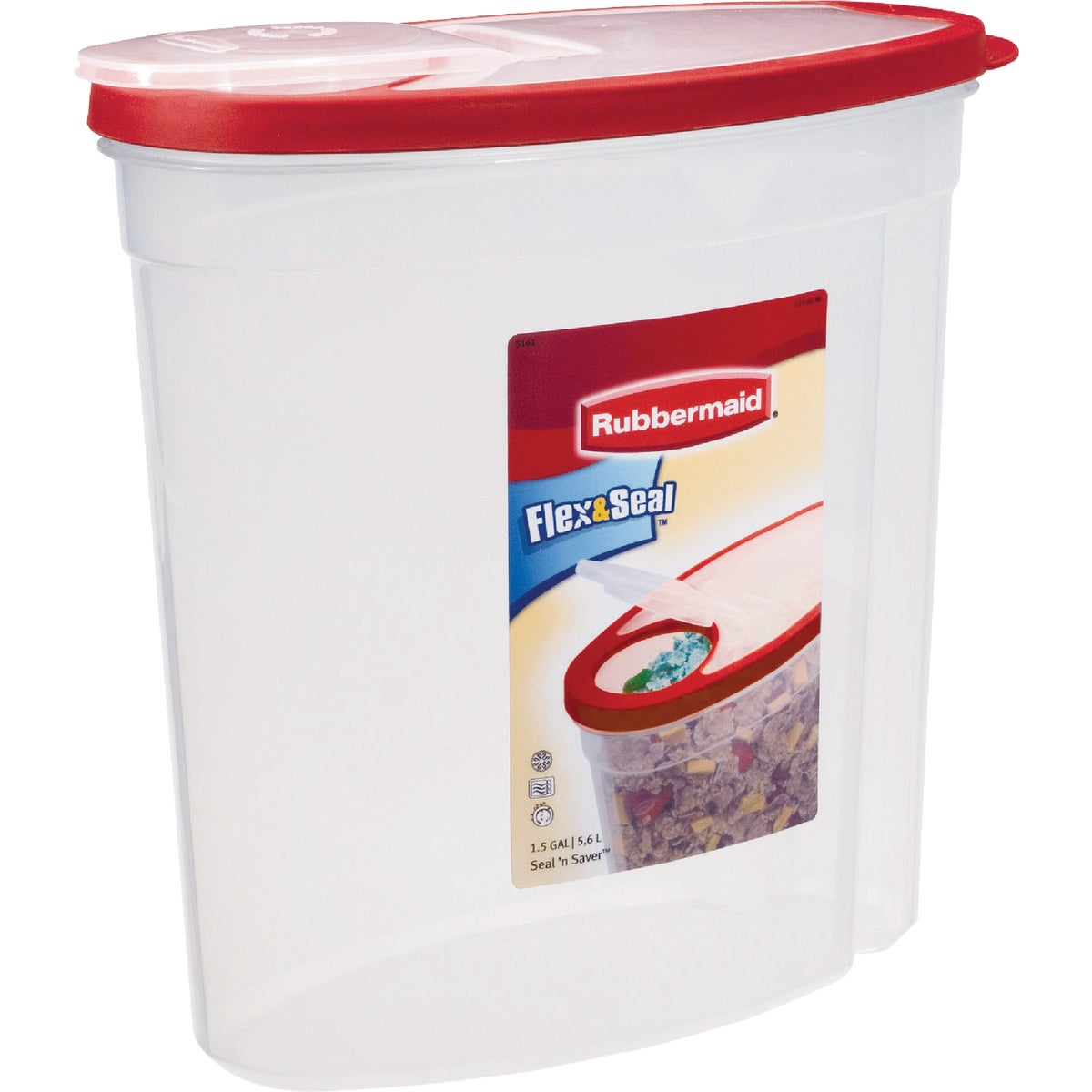 1.5GAL CEREAL CONTAINER - 1777195 by Rubbermaid Home
