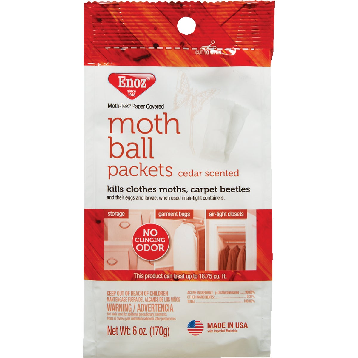Enoz Moth Ball Packets - Ceder Scented