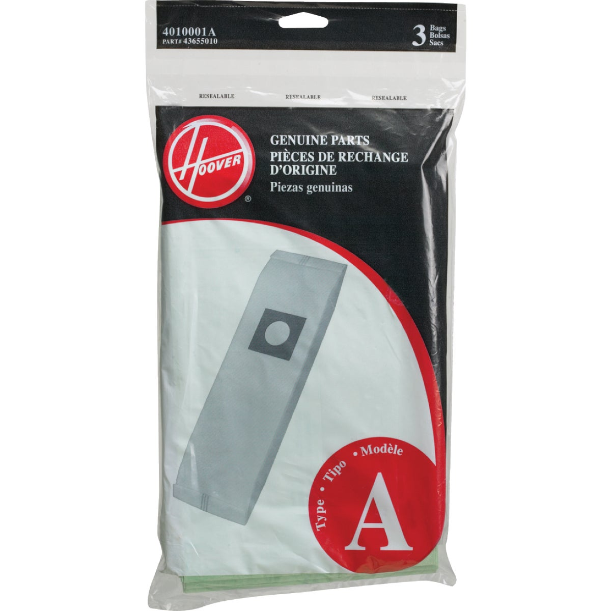 TYPE A VAC CLEANER BAG - 4010001A by Hoover Co