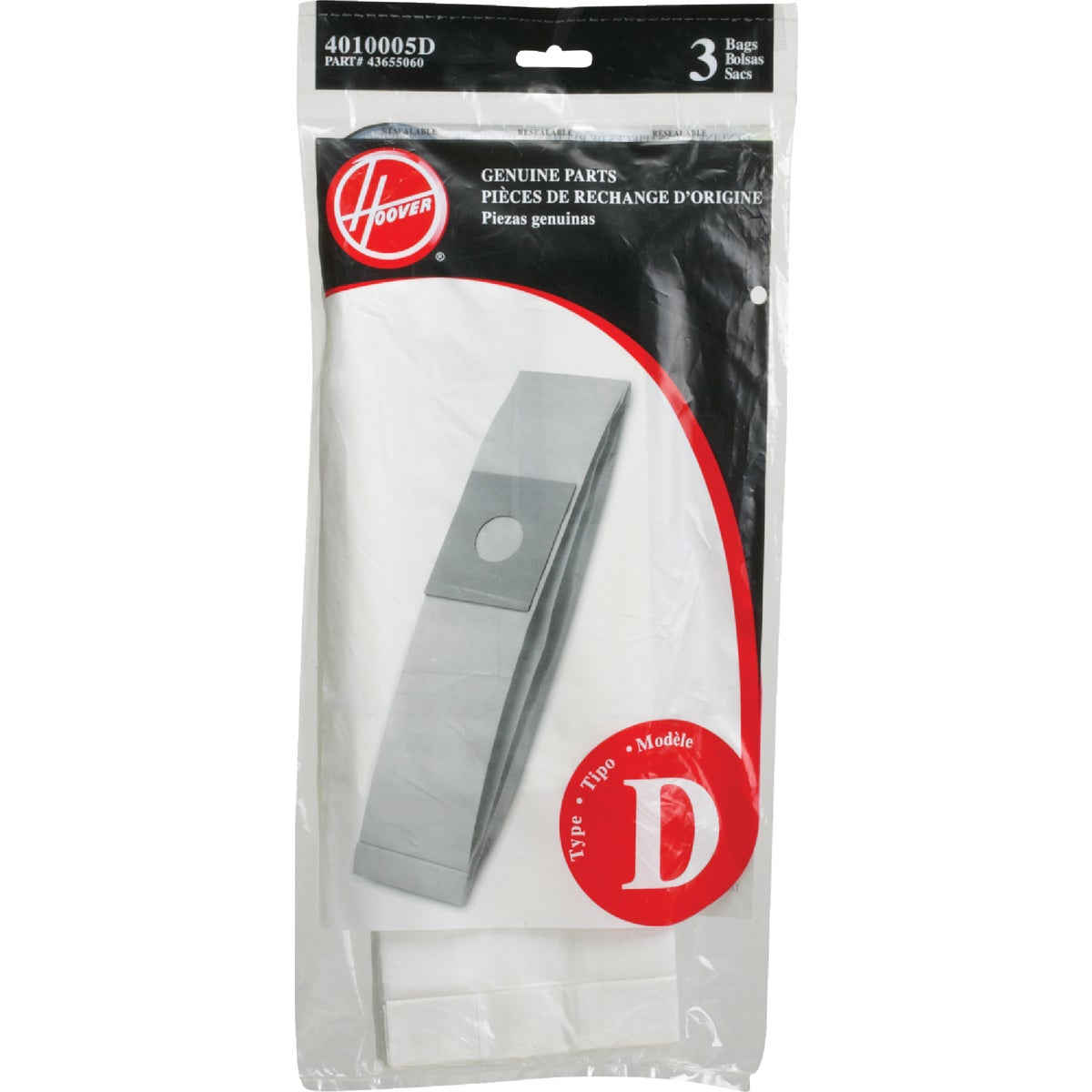 TYPE D VAC CLEANER BAG - 4010005D by Hoover Co