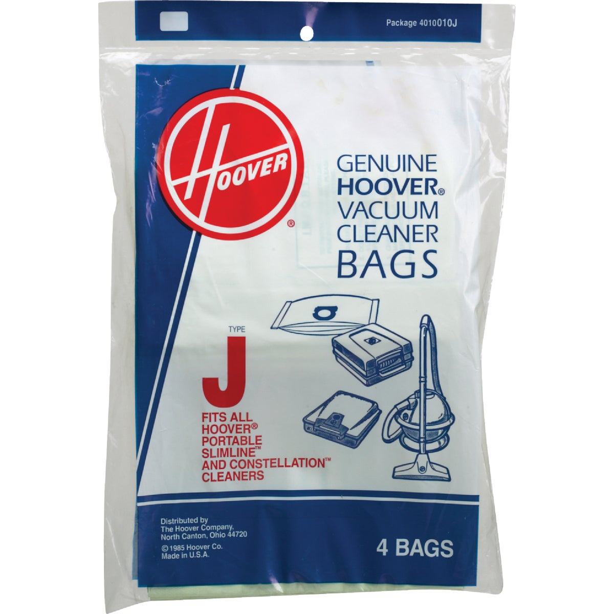 TYPE J VAC CLEANER BAG - 4010010J by Hoover Co