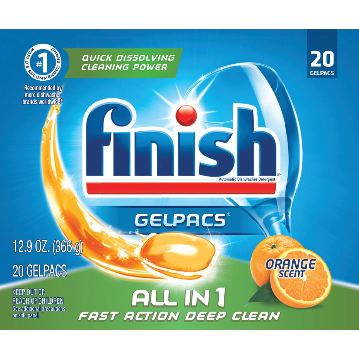 20CT FINISH GELPACS - 5170079170 by Reckitt Benckiser