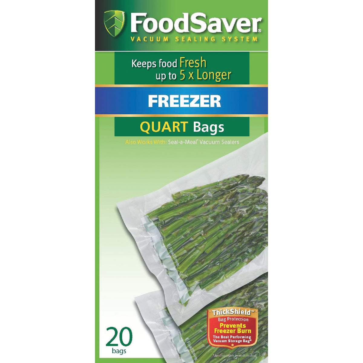 20CT SEAL A MEAL QT BAGS - FSSMBF216-000 by Jarden Cs