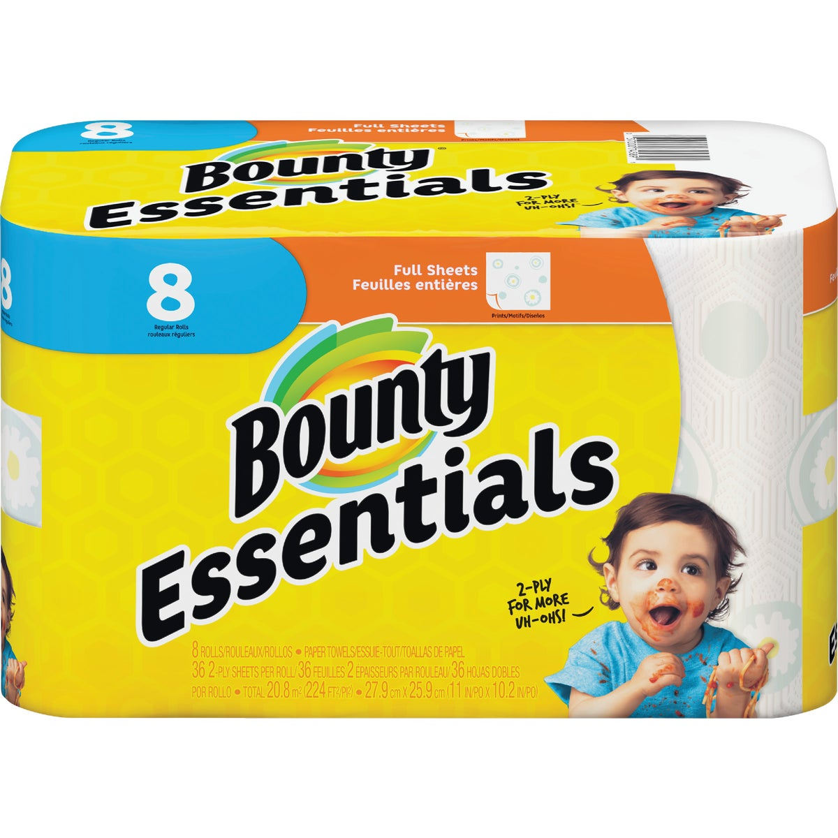8ROLL BOUNTY BASIC TOWEL - 84669 by Procter & Gamble