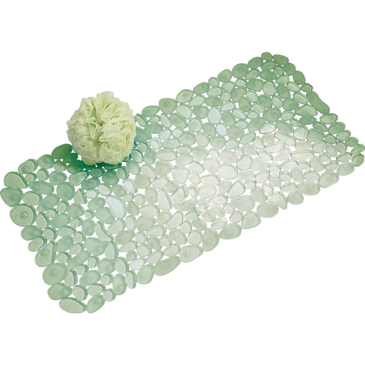 Interdesign GREEN PEBBLZ BATH MAT 80012