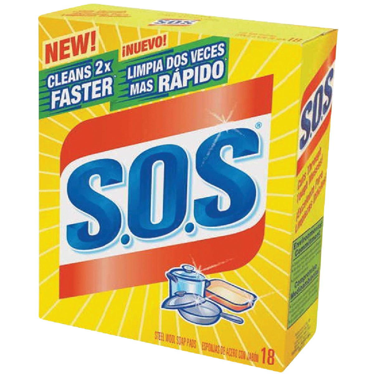 Clorox/Home Cleaning 18PK SOS SCOURING PADS 98018
