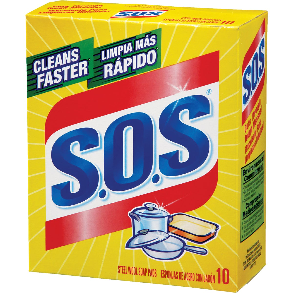 10PK SCOURING PADS