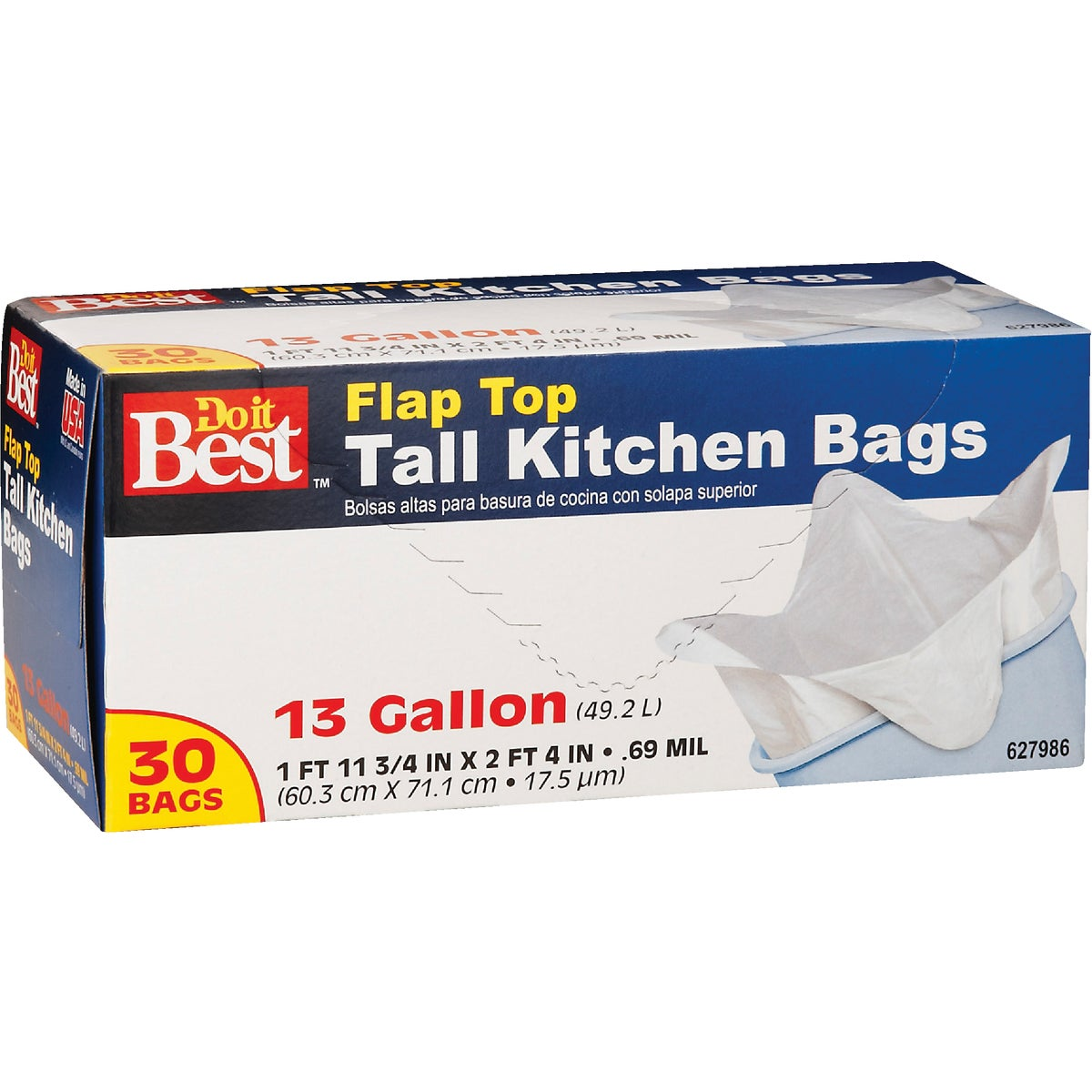 30CT 13GAL KITCHEN BAG - 627986 by Presto Products
