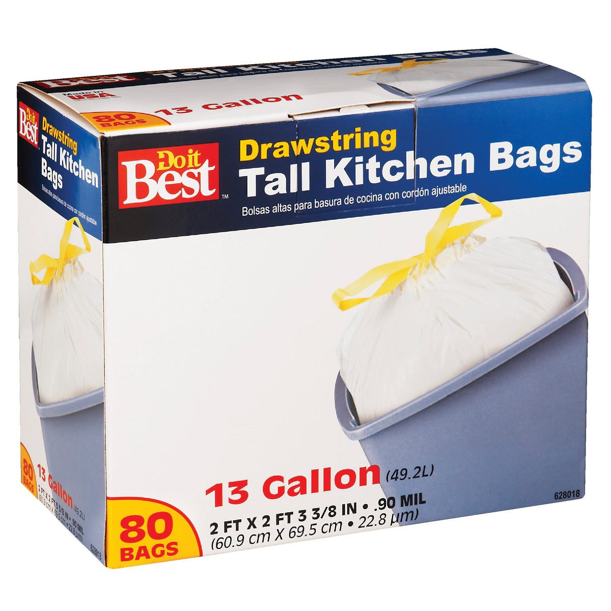 80CT 13GAL KITCHEN BAG