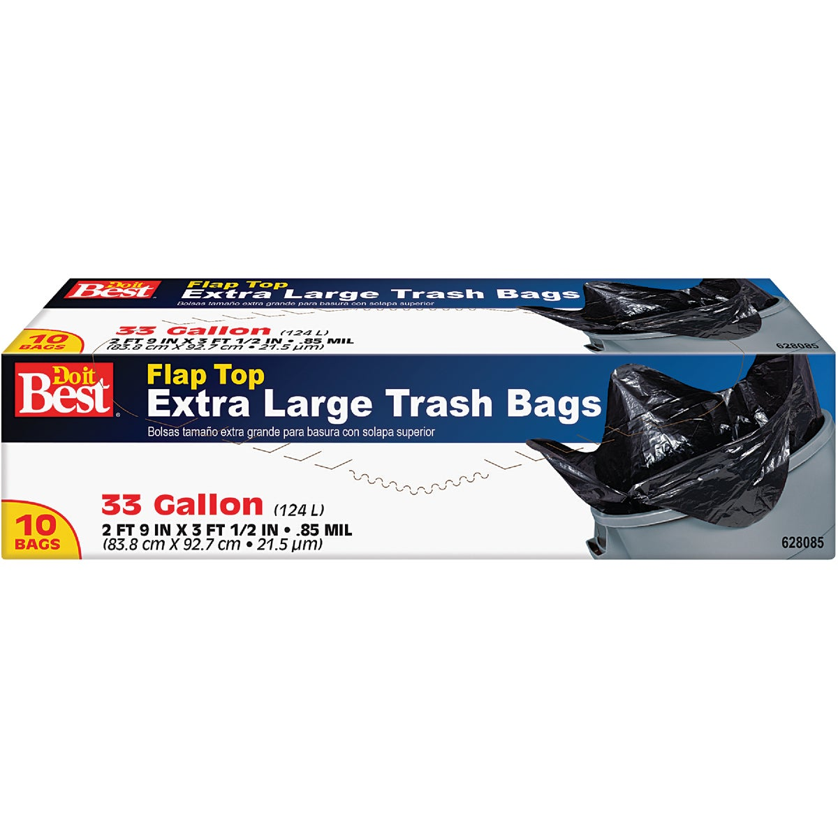 10CT 33GAL TRASH BAG - 628085 by Presto Products