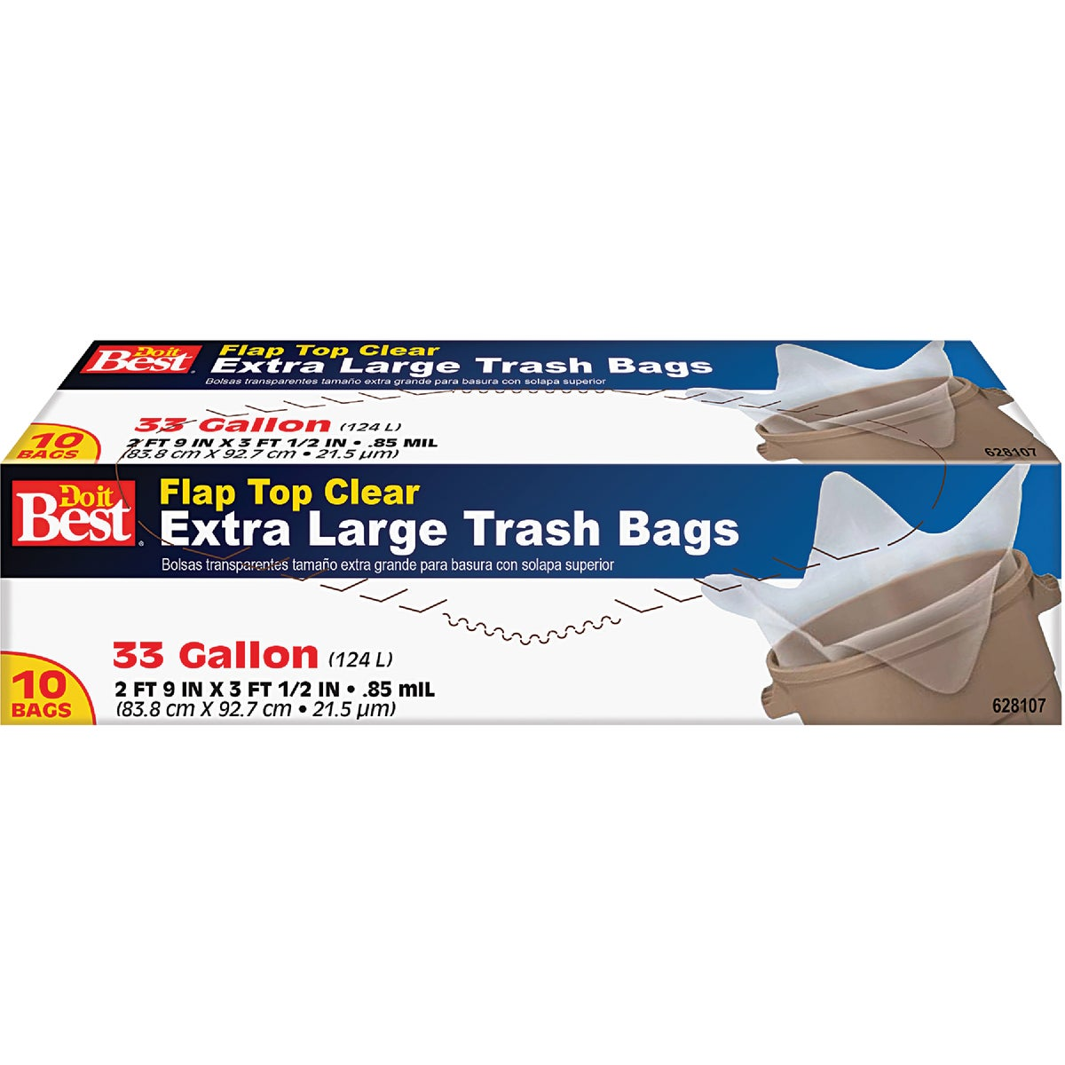 10CT 33GAL TRASH BAG