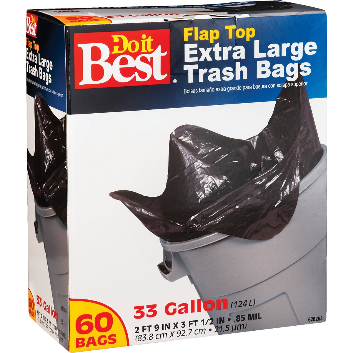 60CT 33GAL TRASH BAG - 628263 by Presto Products