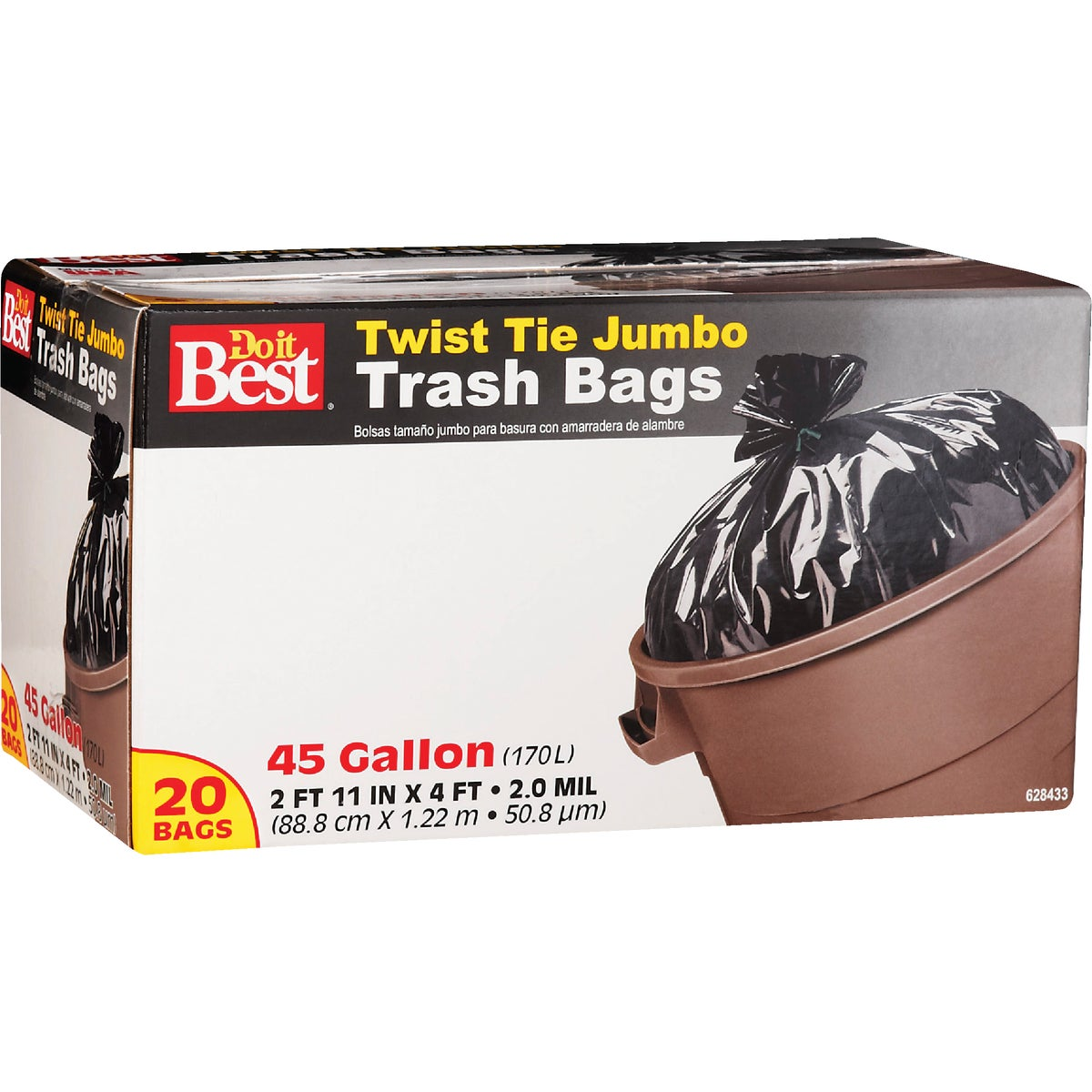 20CT 45GAL TRASH BAG