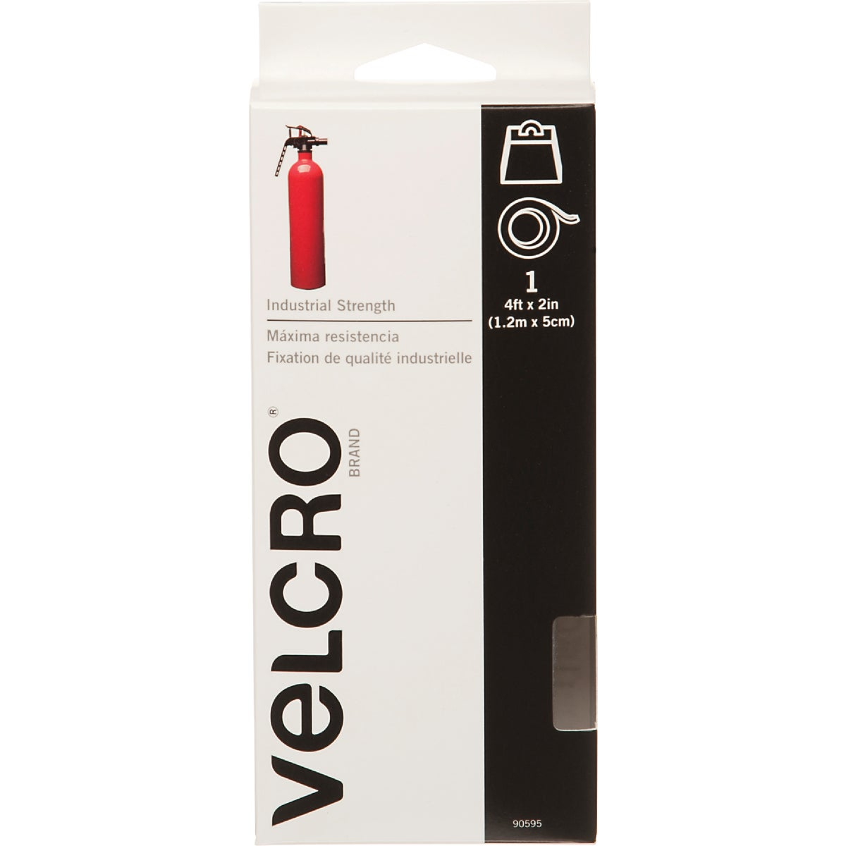 4' WHT ADHESIVE FASTENER - 90595 by Velcro Usa