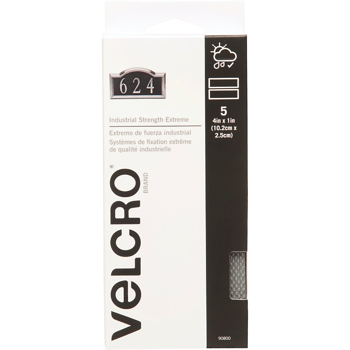 "4"" GRAY ADHSIVE FASTENER - 90800 by Velcro Usa"
