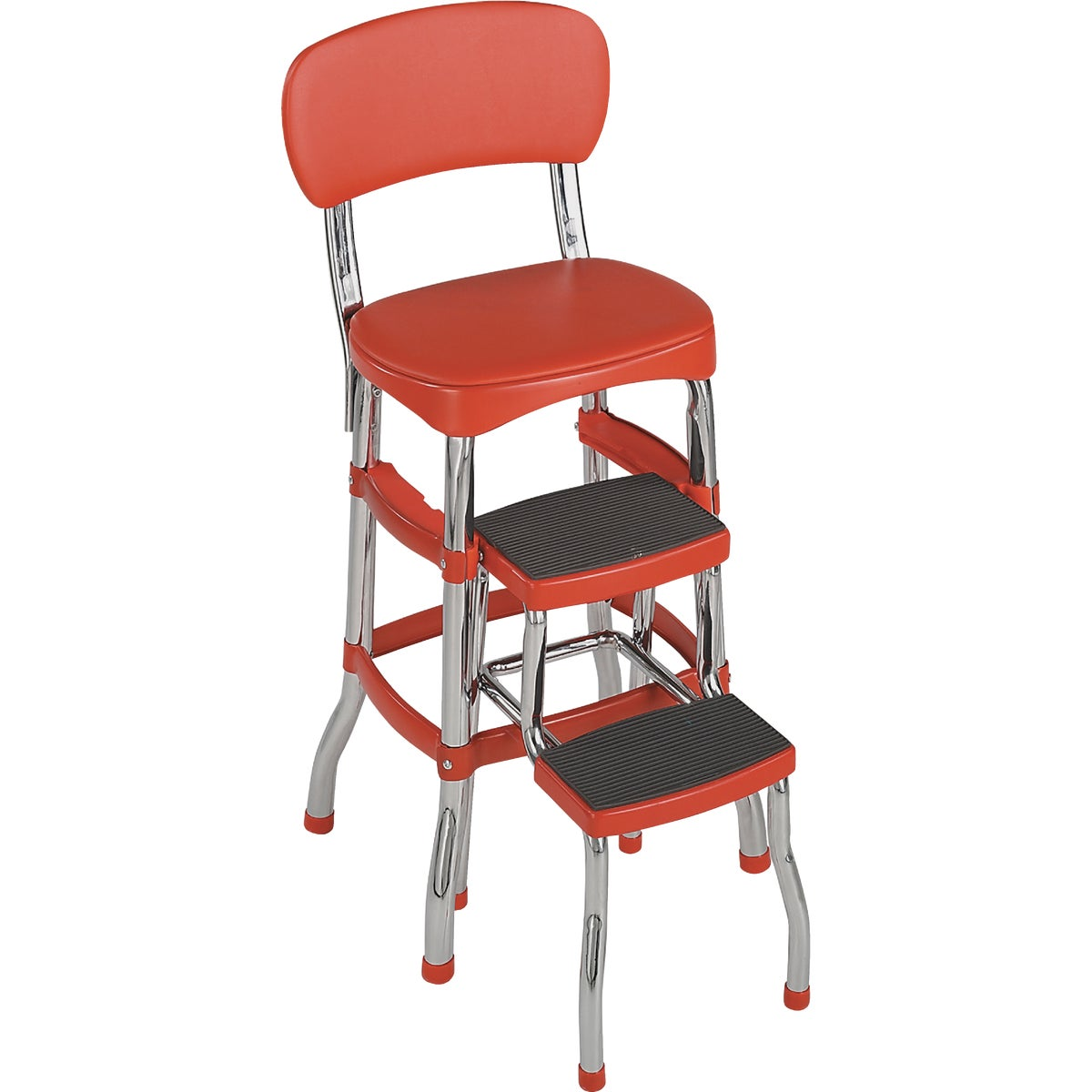 RETRO CHAIR/STEP STOOL - 11-120-RED1 by Cosco    J Myalls